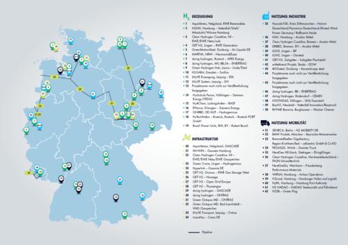 IPCEI-Standortkarte; Bildnachweis: BMWi