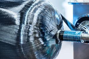 Hochdruckbehälter (300 bar) für Wasserstoffspeicherung und -transport (Foto: Hexagon)