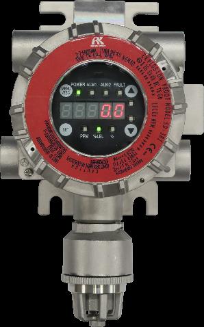fest stationierter Wasserstoffdetektor; Foto: Riken Keiki GmbH